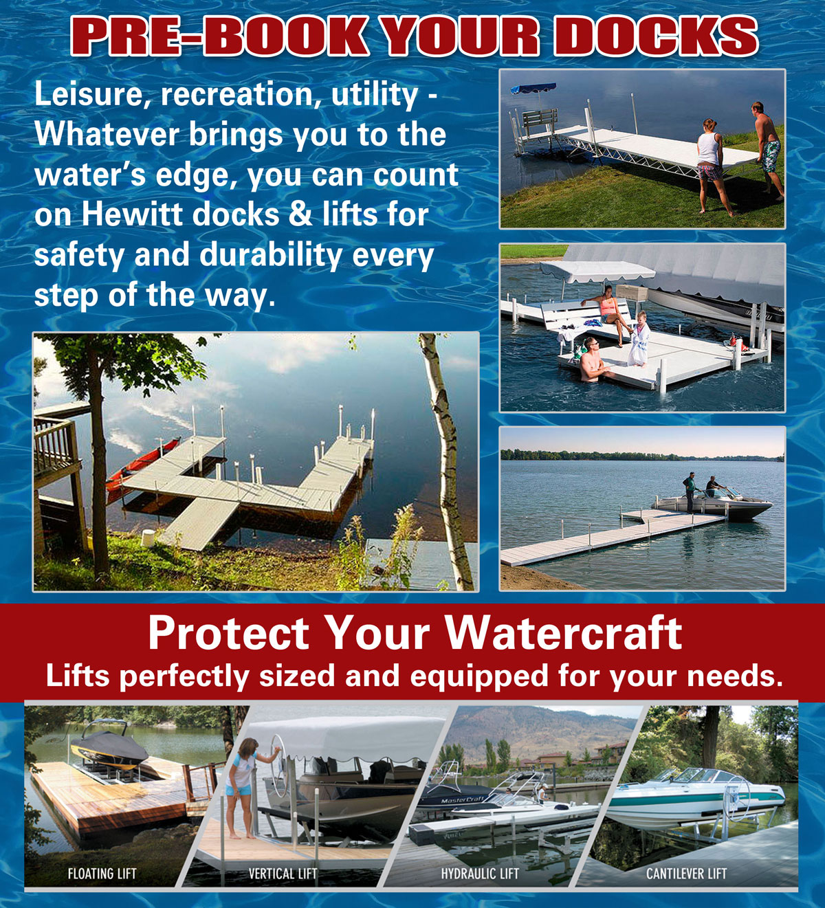 Hewitt Docks to Protect Your Watercraft