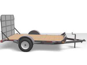 Canada Trailers Single Axle Flat Deck Trailer