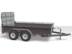 Canada Trailers Mini-Tandem Steel Side Utility Trailer