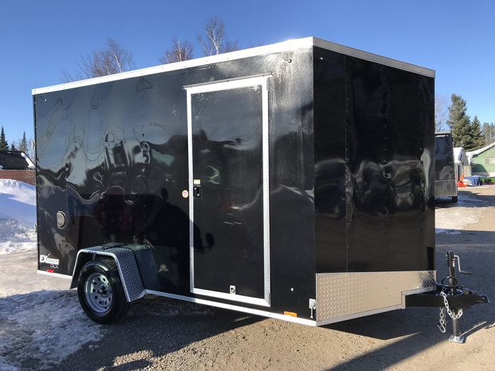 "2019 7 x 12 Cargo Express 12"" extra height side by side friendly"