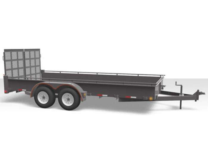 Canada Trailers Tandem Axle Steel Side Utility/Landscape Trailer